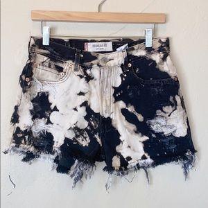 Vintage Levi's Distressed Bleached Jean Shorts